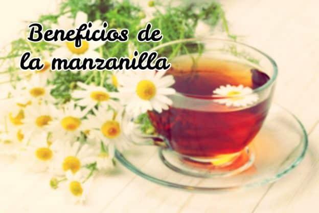 Beneficios de la manzanilla para la salud de tu cuerpo, vemos una taza de manzanilla con unas flores preciosas